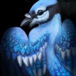 Bluejay, digital painting.