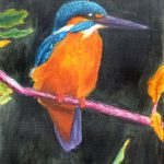Kingfisher, in Acrylic paint on canvas.