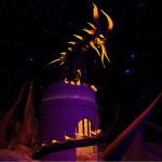 End boss model for a games jam game in the scene