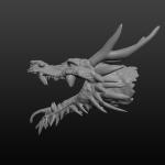 Shinto Dragon head for 3D printing